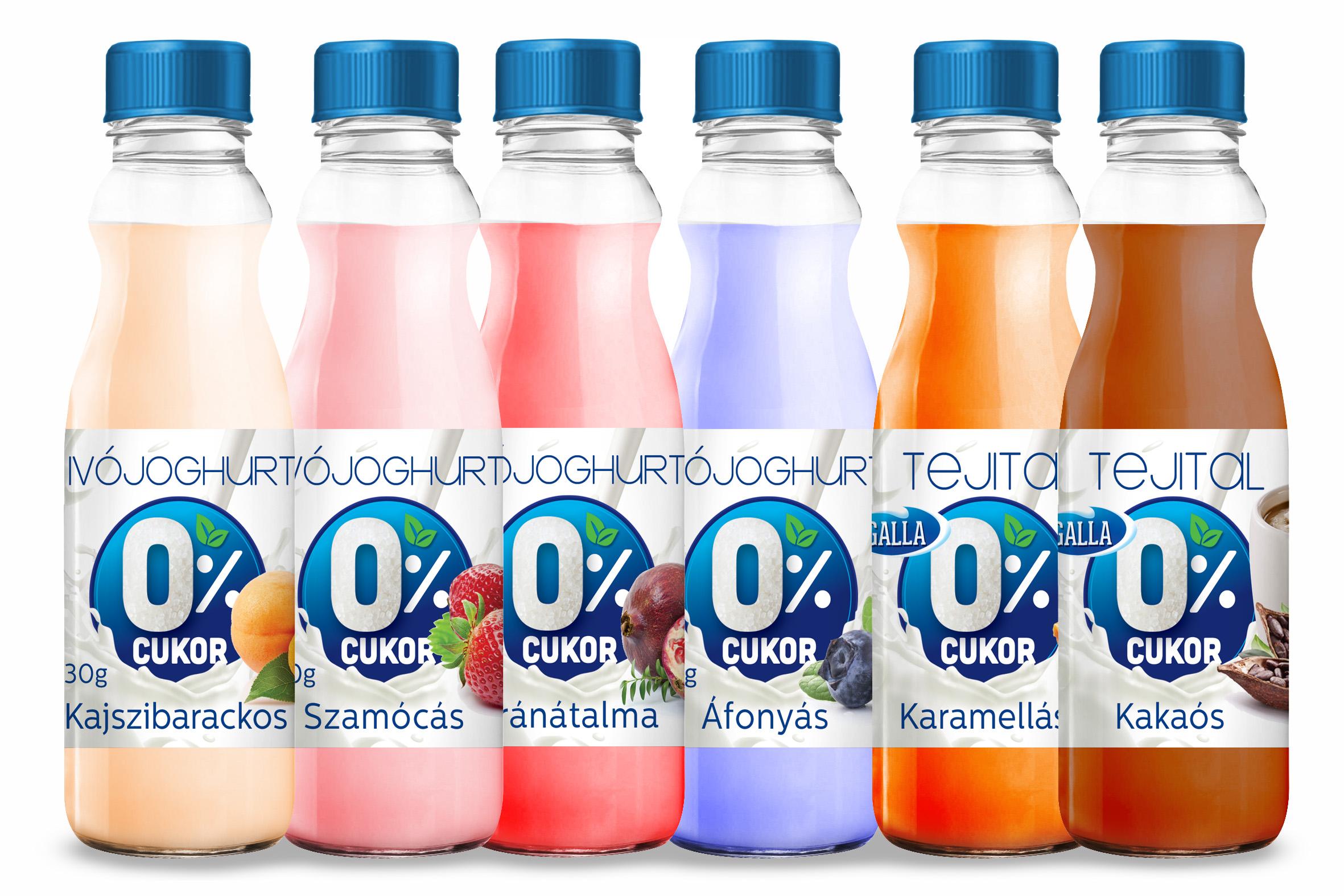 Cukormentes joghurtok, ivójoghurtók, kakaó